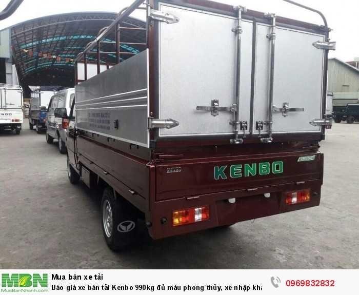 Báo giá xe bán tải Kenbo 990kg - Liên hệ ngay phòng kinh doanh Mr Độ 0969 832 832 (24/24) - Hỗ trợ trả góp nhanh, Giao Xe tải trả góp bảo hành 3 năm - Ô tô Phú Mẫn