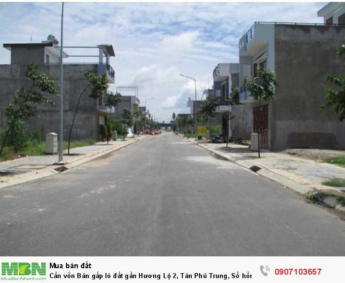 Cần vốn Bán gấp lô đất gần Hương Lộ 2, Tân Phú Trung, Sổ hồng riêng, chính chủ, DT: 6.07×22.27