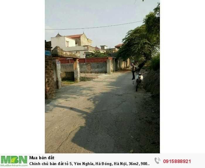 Chính chủ bán đất tổ 5, Yên Nghĩa, Hà Đông, Hà Nội, 36m2, 900 triệu. Oto đỗ cửa.