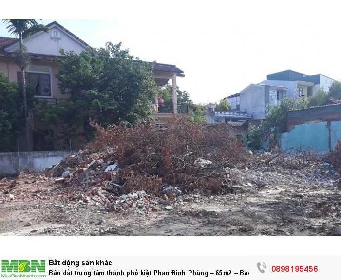 Bán đất trung tâm thành phố kiệt Phan Đình Phùng – 65m2 – Bao sổ