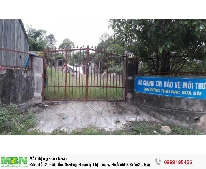 Bán đất 2 mặt tiền đường Hoàng Thị Loan, Huế chỉ 3.8r/m2 - Bao sổ