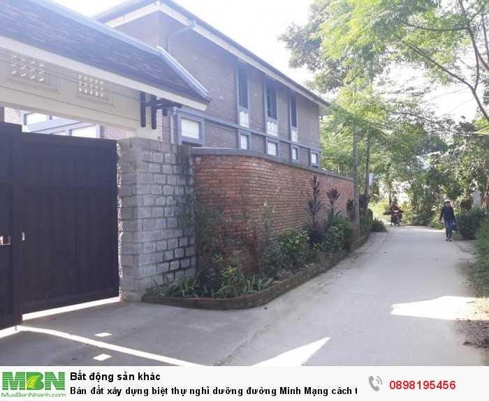 Bán đất xây dựng biệt thự nghỉ dưỡng đường Minh Mạng cách trung tâm chỉ 2km!!!