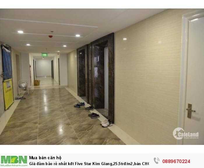 Giá đảm bảo rẻ nhất kđt Five Star Kim Giang, 25.5trđ/m2, bán CHCC 71m2, ban công siêu rộng, view bể bơi