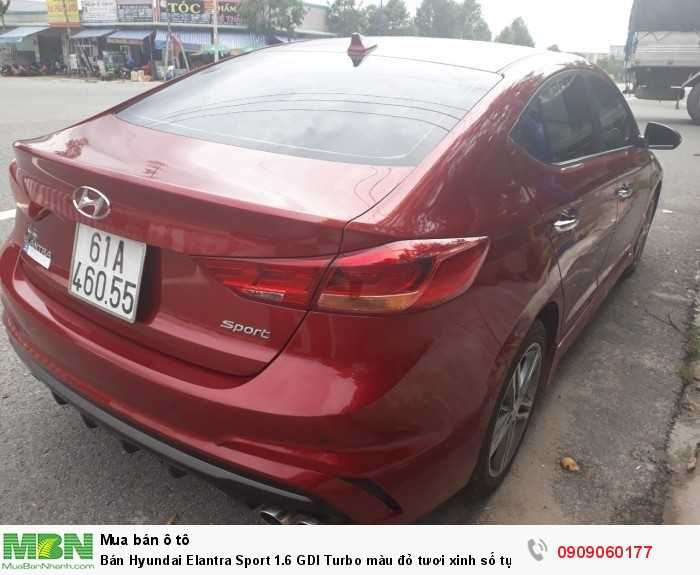 Bán Hyundai Elantra Sport 1.6 GDI Turbo màu đỏ tươi xinh số tự động sản xuất T4/2018 biển tỉnh lăn bánh 9000km