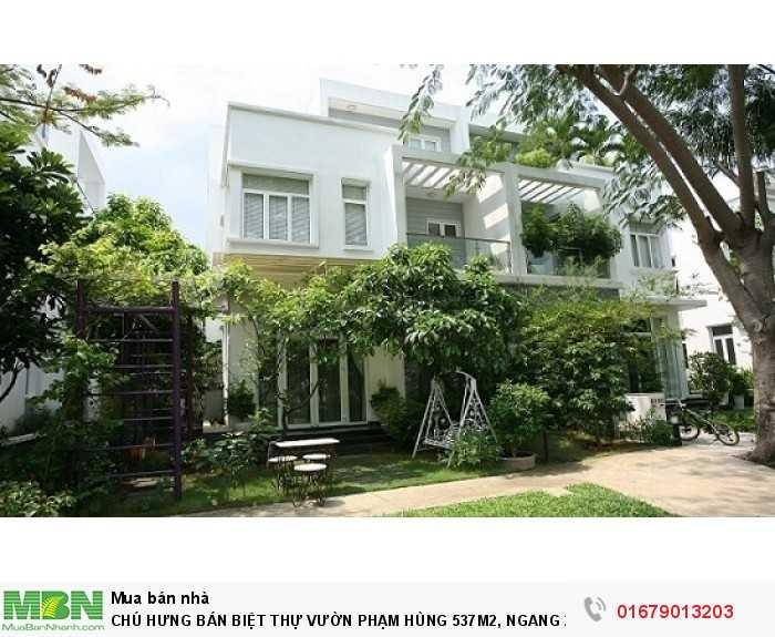 Chú Hưng Bán Biệt Thự Vườn Phạm Hùng 537m2, Ngang 22.5m, Sổ Hồng