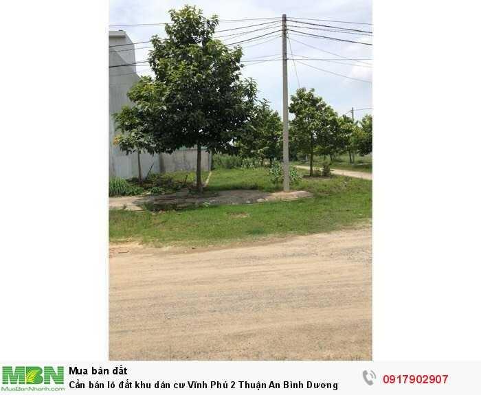 Cần bán lô đất khu dân cư Vĩnh Phú 2 Thuận An Bình Dương
