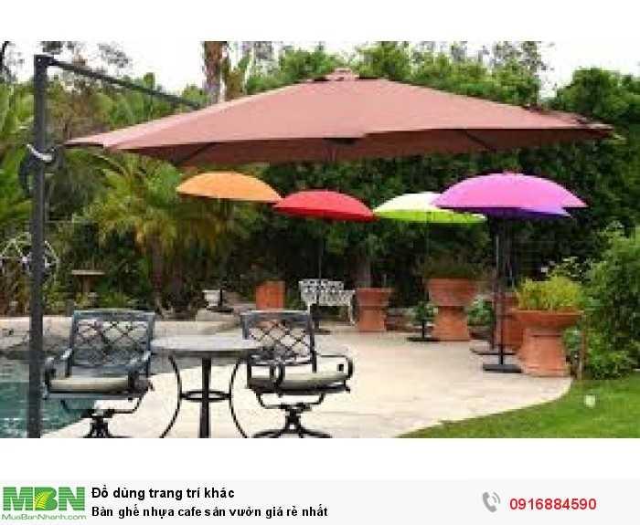 Bàn ghế nhựa cafe sân vườn giá rẻ nhất