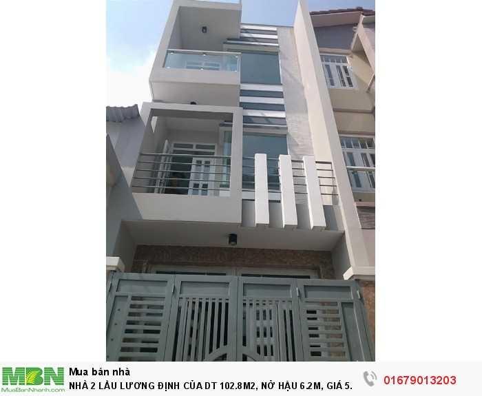 Nhà 2 Lầu Lương Định Của Dt 102.8m2, Nở Hậu 6.2m, Sổ Hồng
