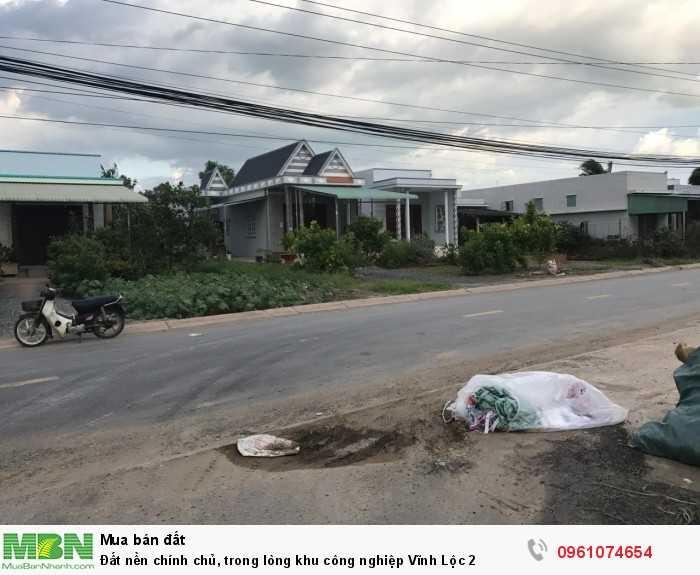 Đất nền chính chủ, trong lòng khu công nghiệp Vĩnh Lộc 2