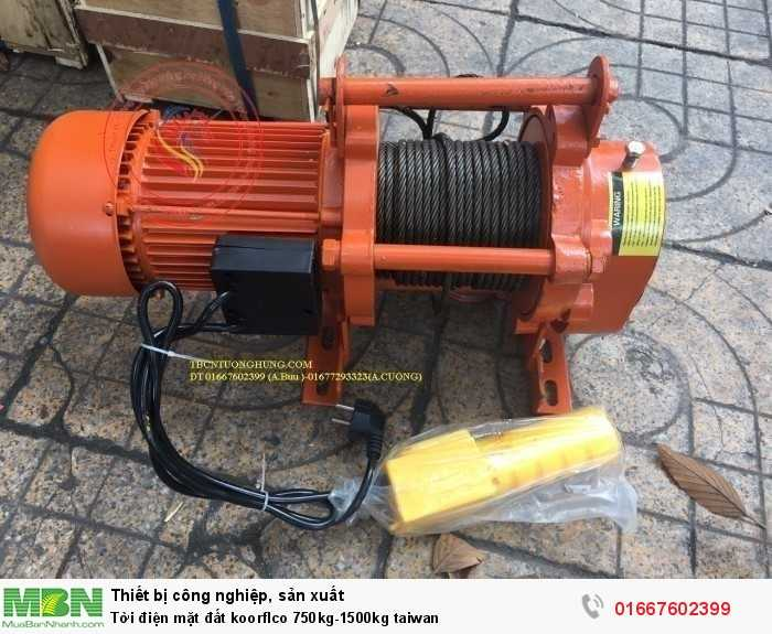 Tời điện mặt đất koorflco 750kg-1500kg taiwan