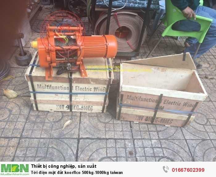 Tời điện mặt đất koorflco 500kg-1000kg taiwan
