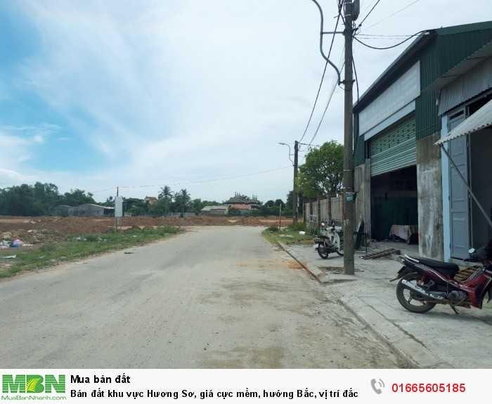 Bán đất khu vực Hương Sơ, giá cực mềm, hướng Bắc, vị trí đắc địa dễ dàng sinh sống, kinh doanh