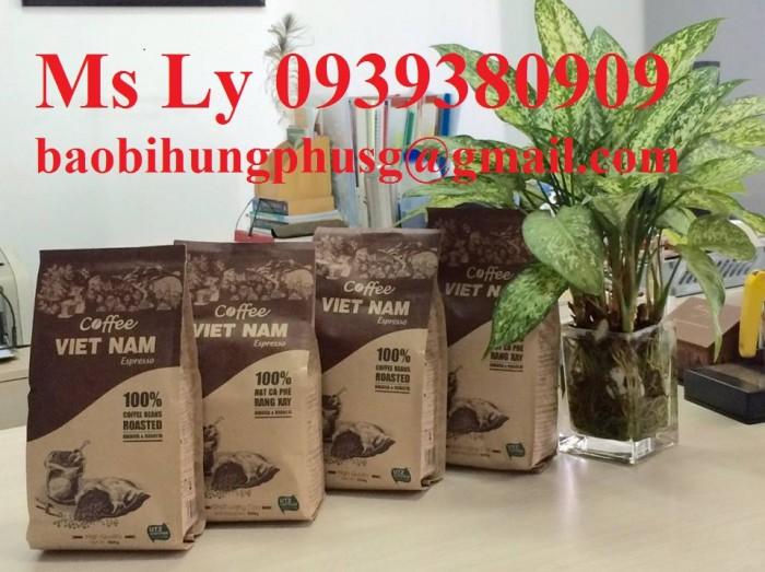 In bao bì cà phê giấy kraft đẹp,giá rẻ, thiết kế miễn phí14