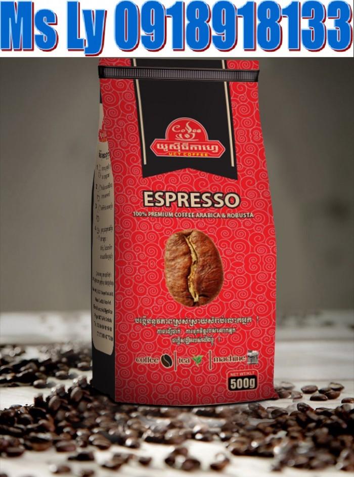 In bao bì cà phê giấy kraft đẹp,giá rẻ, thiết kế miễn phí0