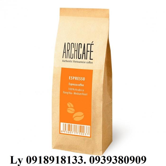 In bao bì cà phê giấy kraft đẹp,giá rẻ, thiết kế miễn phí1