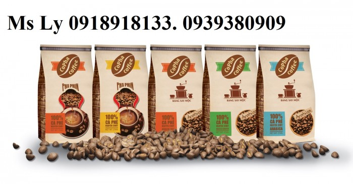 In bao bì cà phê giấy kraft đẹp,giá rẻ, thiết kế miễn phí10