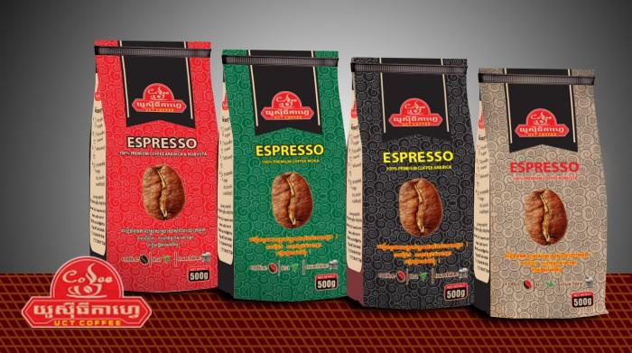 In bao bì cà phê giấy kraft đẹp,giá rẻ, thiết kế miễn phí9