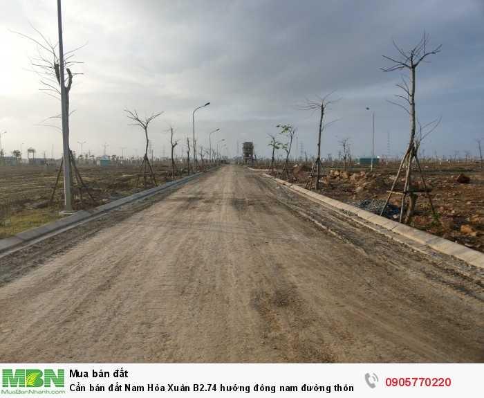 Cần bán đất Nam Hòa Xuân B2.74 hướng đông nam đường thông ra Nguyễn Phước Lan