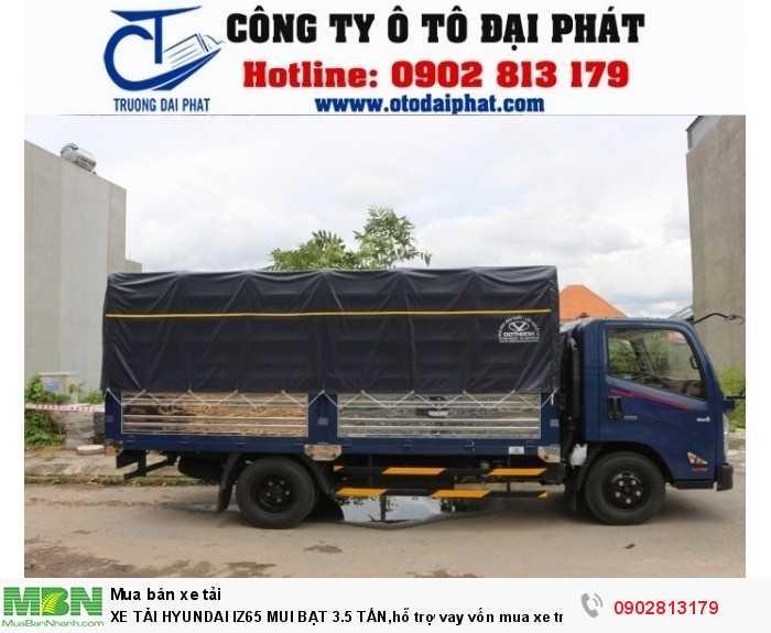 Xe tải IZ65 có kích thước thùng dài 4310 x 1940 x 660/1850 mm, bạt xe được may chắc chắn giúp cho người dùng vận chuyển dễ dàng với khối lượng chuyên chở là 3490kg và bảo quản tốt nhất hàng hóa trong xe