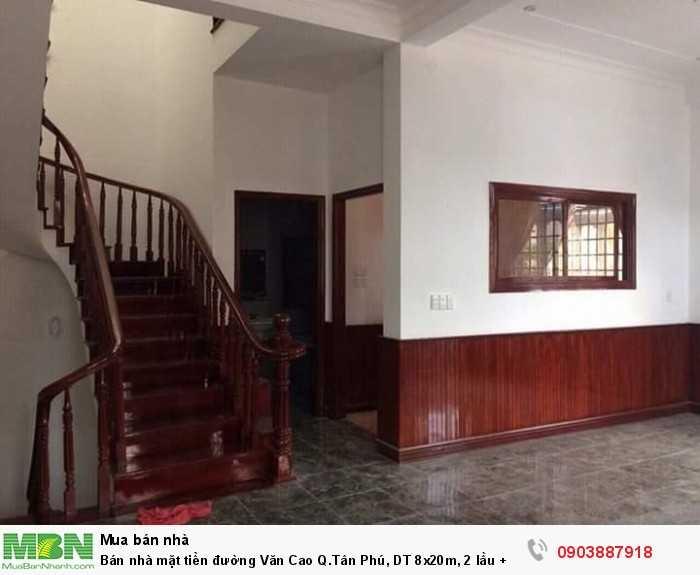 Bán nhà mặt tiền đường Văn Cao Q.Tân Phú