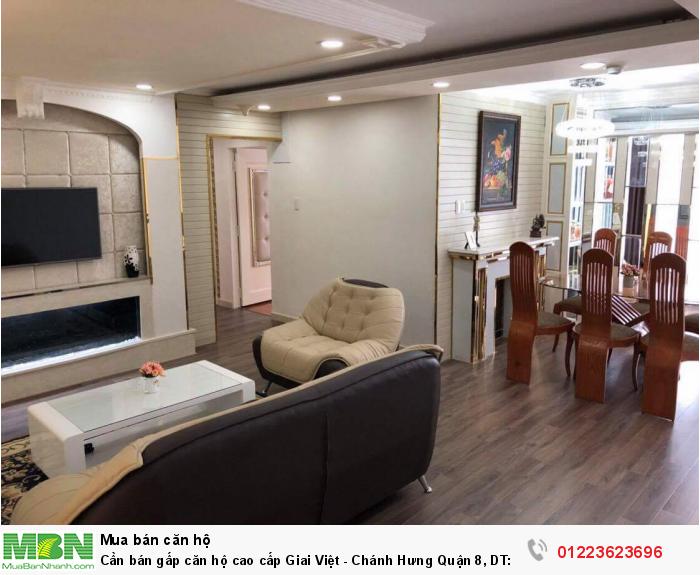 Cần bán gấp căn hộ cao cấp Giai Việt - Chánh Hưng Quận 8, DT: 87m2, 2PN, 2 wc
