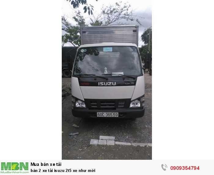 Bán 2 xe tải Isuzu 2t5 xe như mới 1
