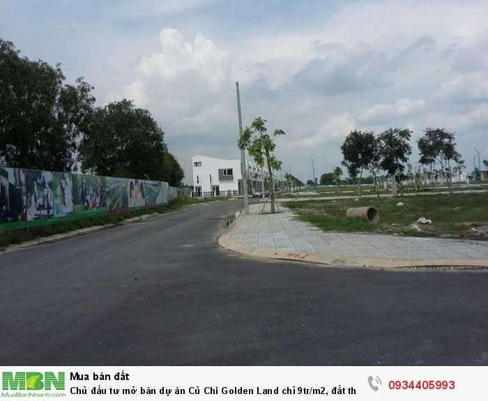 Chủ đầu tư mở bán dự án Củ Chi Golden Land chỉ 9tr/m2, đất thổ cư 100%, xây dựng tự do