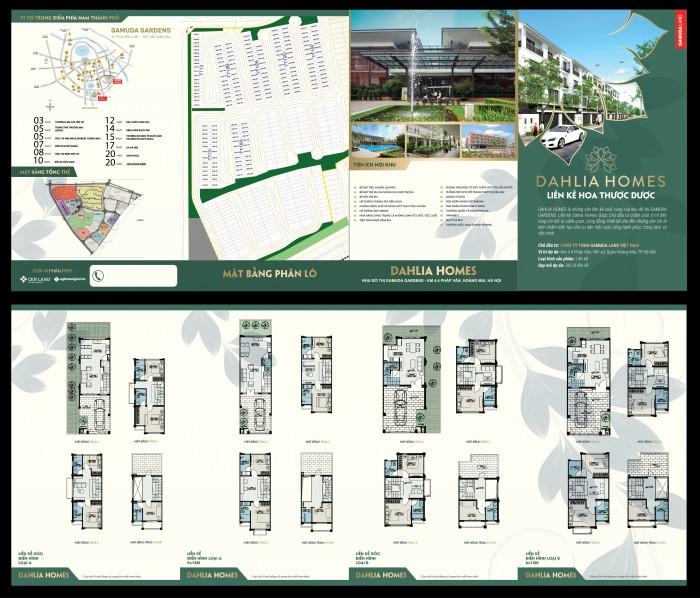 Khu liền kề ST5 Dahlia Homes - Gamuda, Hoàng Mai, CK cao, trả chậm 18 tháng