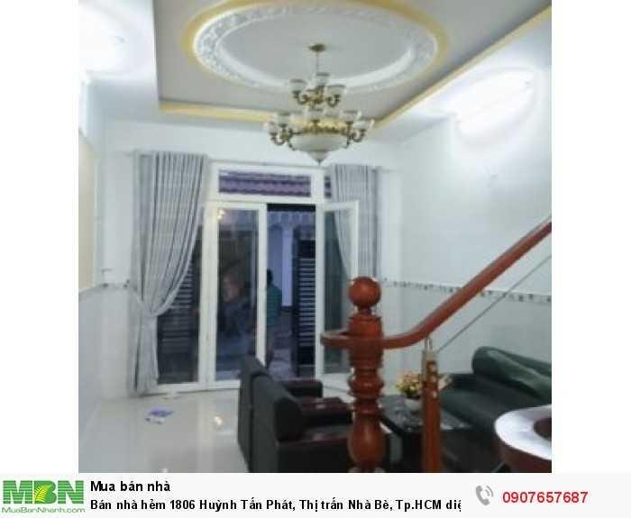 Bán nhà hẻm 1806 Huỳnh Tấn Phát, Thị trấn Nhà Bè, Tp.HCM diện tích 52m2