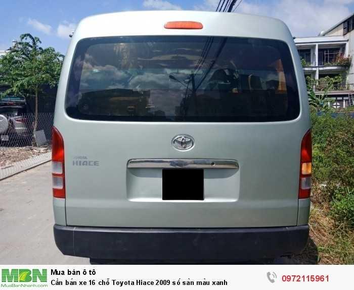 Cần bán xe 16 chỗ Toyota Hiace 2009 số sàn màu xanh