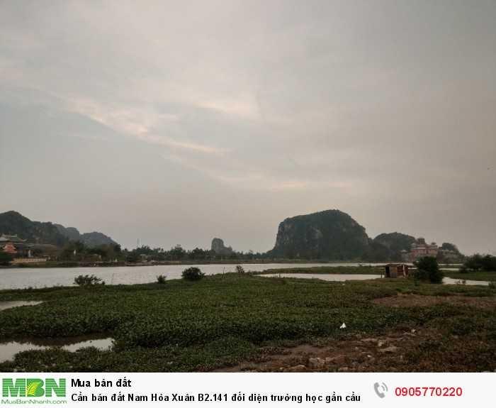 Cần bán đất Nam Hòa Xuân B2.141 đối diện trường học gần cầu Minh Mạng giá 2.320 tỷ