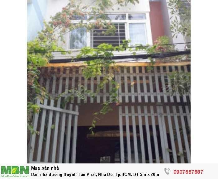 Bán nhà đường Huỳnh Tấn Phát, Nhà Bè, Tp.HCM. DT 5m x 20m, 2 lầu 4PN