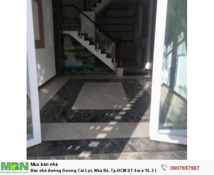Bán nhà đường Dương Cát Lợi, Nhà Bè, Tp.HCM DT 4m x 14, 2 lầu
