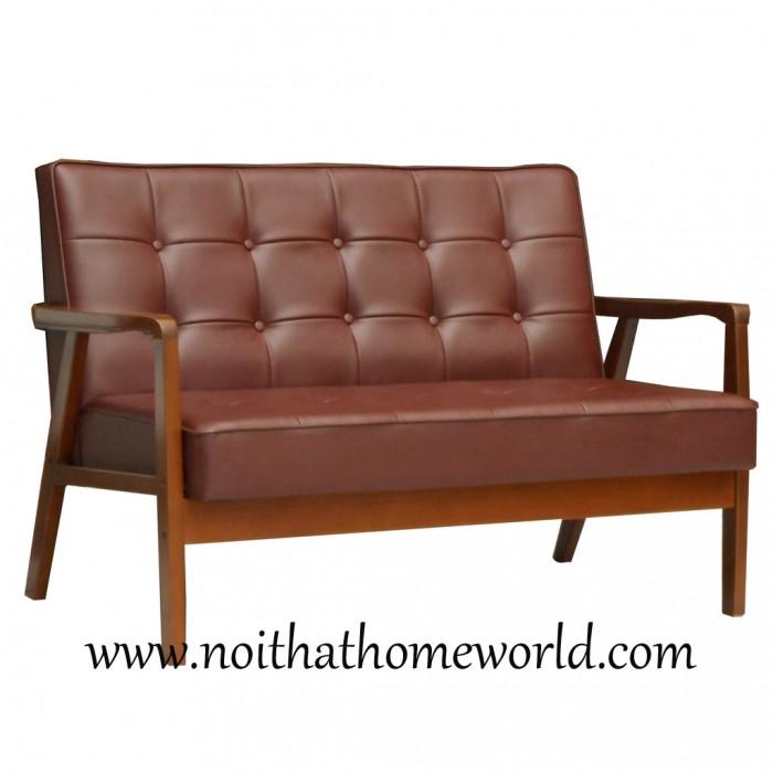 Sofa 2 chỗ ngồi HW106- Ghế bọc simili- Hàng xuất khẩu nhật- Nội thất Homeworld2