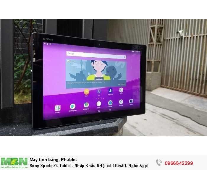 Sony Xperia Z4 Tablet - Nhập Khẩu NHật có 4G/wifi- Nghe &gọi9