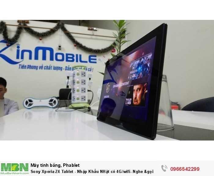 Sony Xperia Z4 Tablet - Nhập Khẩu NHật có 4G/wifi- Nghe &gọi10