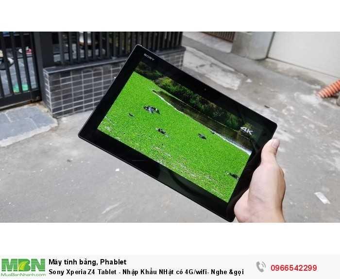 Sony Xperia Z4 Tablet - Nhập Khẩu NHật có 4G/wifi- Nghe &gọi11
