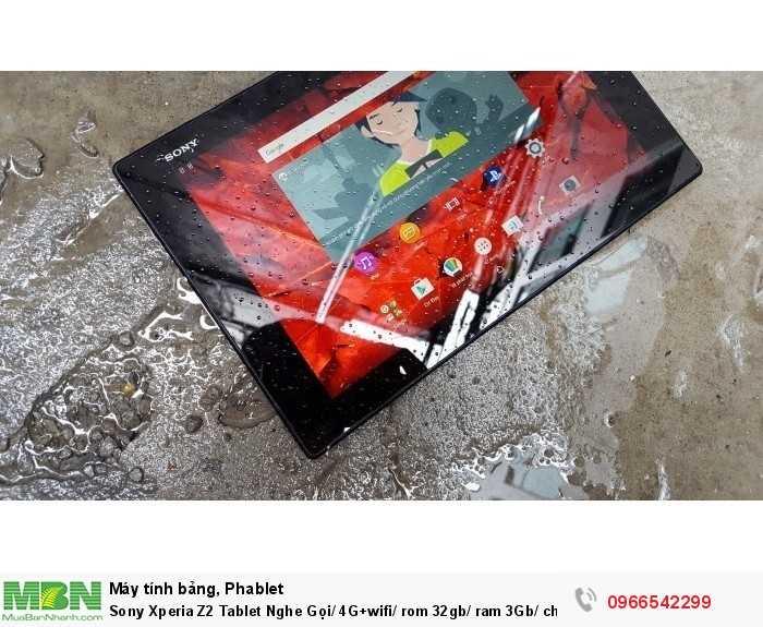 Sony Xperia Z2 Tablet Nghe Gọi/ 4G+wifi/ rom 32gb/ ram 3Gb/ chống nước giá rẻ uy tín tại ZinMobile1