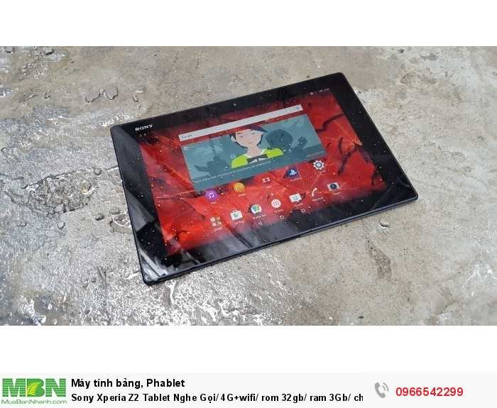 Sony Xperia Z2 Tablet Nghe Gọi/ 4G+wifi/ rom 32gb/ ram 3Gb/ chống nước giá rẻ uy tín tại ZinMobile4