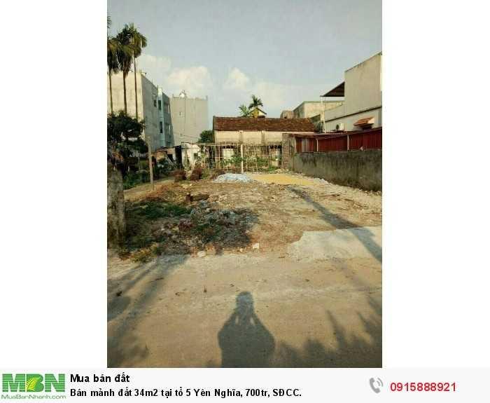 Bán mảnh đất 34m2 tại tổ 5 Yên Nghĩa, SĐCC.