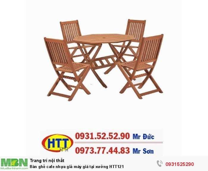 Bàn ghế cafe gỗ giá tại xưởng HTT1210