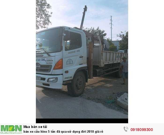 Bán xe cẩu Hino 5 tấn đã qua sử dụng đời 2010 giá rẻ