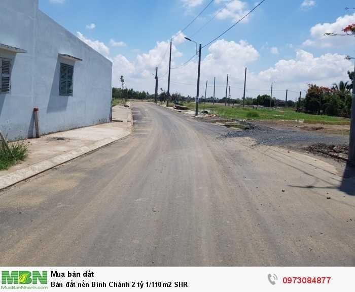 Bán đất nền Bình Chánh 110m2 SHR
