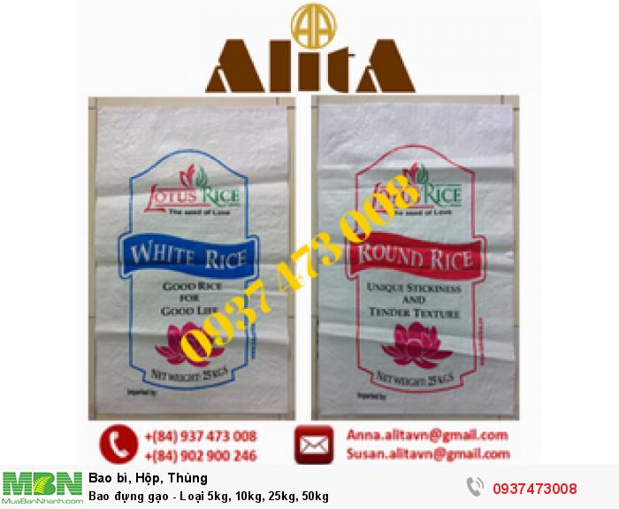 Bao đựng gạo - Loại 5kg, 10kg, 25kg, 50kg0