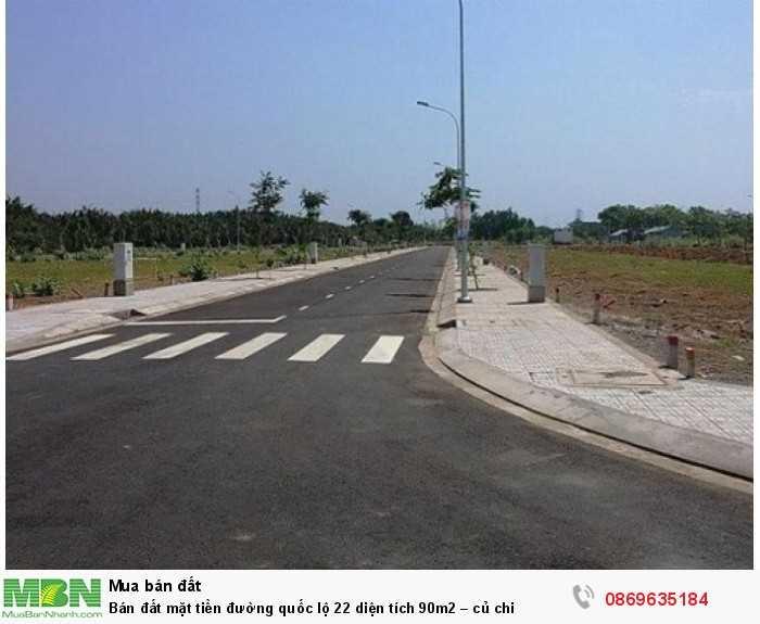 Bán đất mặt tiền đường quốc lộ 22 diện tích 90m2 – củ chi
