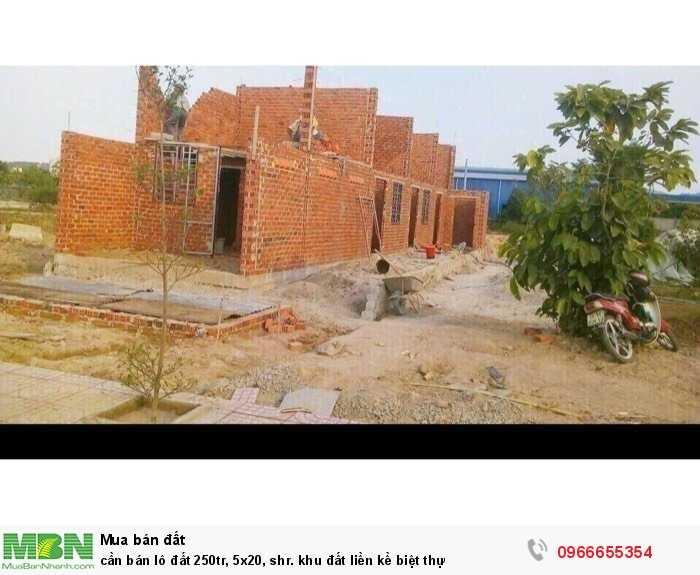Cần bán lô đất 250tr, 5x20, shr. khu đất liền kề biệt thự