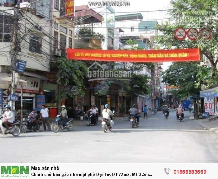 Chính chủ bán gấp nhà mặt phố Đại Từ, DT 72m2, MT 3.5m