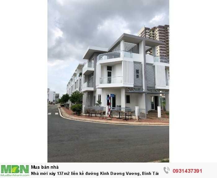 Nhà mới xây 137m2 liền kề đường Kinh Dương Vương, Bình Tân