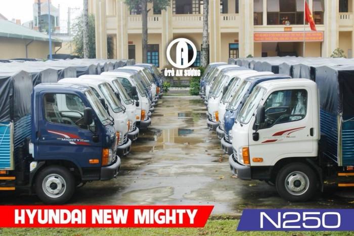 Giá xe tải Hyundai 2t4 thùng bạt 12