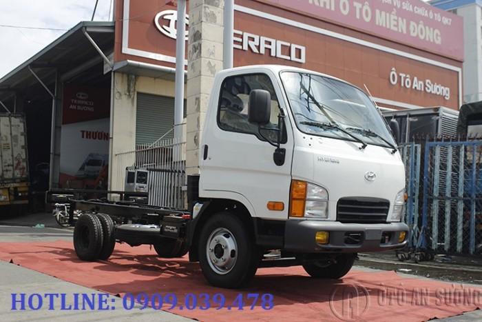 Giá xe tải Hyundai 2t4 thùng bạt 6